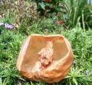 【画像有】まるでオブジェ スズメバチが食べ尽くしたリンゴ 秋田