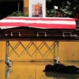 『戦死した特殊部隊隊員と愛犬』の画像