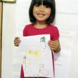『【今日のまなび】メイちゃん1人でオリジナルミニオンを考えて描きました』の画像