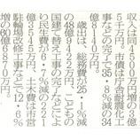 『(埼玉新聞)戸田市の平成27年度予算案』の画像