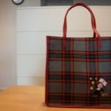 『KEITAMARUYAMA(ケイタマルヤマ)Square Tote Bag(チェック)』の画像