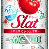 『【新商品】トマト果汁を使用した缶チューハイ 『アサヒSlat(すらっと)期間限定トマトスカッシュサワー』』の画像
