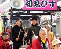 阪神・陽川と島本 2年連続で「宝恵駕籠行列」に参加