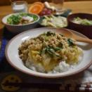 【レンジで1発!白菜のそぼろ餡】#レンジ調理#簡単#あんかけご飯 …練習前の朝ごはんとお弁当。