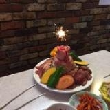 入学祝い、入社祝い、お誕生日は焼肉ケーキで!(要予約)のサムネイル