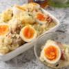 「3月のライオン」(羽海野チカ)のあかり特製厚切りベーコンと半じゅく卵のポテトサラダ