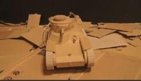 【創作】  驚愕!日本人が ダンボールから 「ラジコンの戦車」を作ったぞ!  海外の反応
