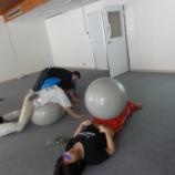 『カレッジ福岡のスポーツの授業のひとコマ』の画像