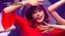 今日は大人っぽい赤衣装 IZ*ONE、「ミュージックバンク」で『La Vie en Rose』を披露 ※追記あり