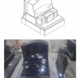 『インドMU 洋風墓石 象嵌加工』の画像