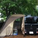 雨の軽井沢でキャンプ①