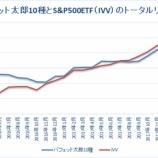 『【31ヶ月目】「バフェット太郎10種」VS「S&P500ETF」のトータルリターン』の画像
