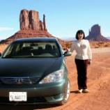 『旅先で、車と一緒に撮影』の画像