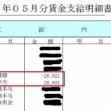 """『【5月給与】""""一時帰休""""に伴う手当が振り込まれたよ!』の画像"""