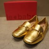 『le babe(レバーベ)ゴールドビットメタリックローファー』の画像
