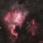 『富士山で捉えた北アメリカ&ペリカン星雲コラボ』の画像