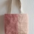 ぜんまい綿毛糸のとんぼ織りミニトートバッグ