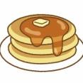 ホットサンドメーカーで焼いた厚みがあってサクサク部分が多いホットケーキ