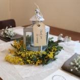 『ミモザでナチュラルテーブルコーディネート』の画像