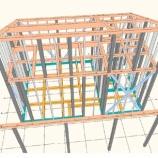 『狭小住宅依頼物件 1F6坪 ロフト3坪 その2 プレカット加工図』の画像
