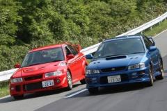 スバル インプ vs 三菱 ランエボ