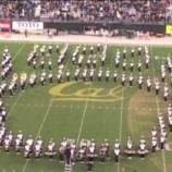 『【海外】インディー! 2011年カリフォルニア大学『ハーフタイムショー』フルショー動画です!』の画像