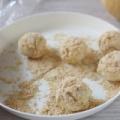 保育園給食レシピ簡単おやつ~きな粉おむすび~
