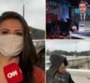 ブラジルの大雨現場レポートを報じていたCNN記者 生放送中、男にスマホ2台を奪われる