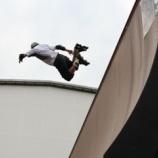 『只今六甲アイランドでインラインスケートの大会観戦』の画像