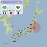 『カエル地震速報』の画像