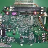 『emacロジックボードのコンデンサ交換手術』の画像