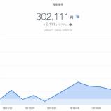 『【資産運用】2019年12月4週目!THEO+docomoの資産運用状況は+2,111円 (+0.70%)でした(๑•̀ㅂ•́)و✧放置するだけお金が増える!!』の画像