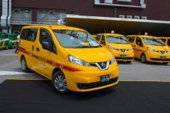日産、ワンボックス型「NV200タクシー」を都内で運用開始! 東京五輪に向けセダン型のイメージを一新