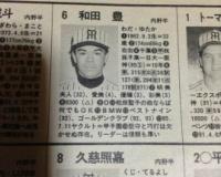 古い野球名鑑に乗ってた若き日のスパイスWWW