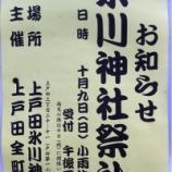 『戸田市・上戸田氷川神社の奉納演芸、今年は10月9日開催です』の画像