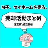 『M子、マイホームを売る〜売却活動まとめ 査定額と成立価格〜』の画像