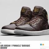 『10/31発売予定 AIR JORDAN 1 PINNACLE 'BAROQUE BROWN' NIKE.COM early link』の画像