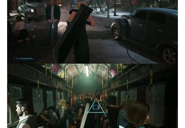 【悲報】クラウドさん、街中でバスターソードを背負ってオラつく