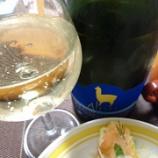 『アルパカのスパークリングワイン~「サンタ・ヘレナ・アルパカ・スパークリング・ブリュット」と春のクリームパスタ柚子胡椒風味』の画像
