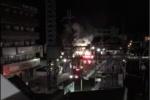 私部で火災があったみたい〜交野市駅から約100m。弁慶寿司の近く〜