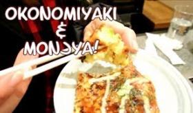 【日本の店】   ああ 見てるだけでたまらない・・・。ジャパニーズピザ 「お好み焼き」を 食べに行ったよ。  海外の反応