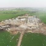 【動画】中国、<続報>「花火工場」の爆発、破壊された工場、ドローンによる空撮映像