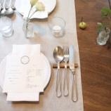 『リメイクテーブルと、カトラリーレストと。』の画像