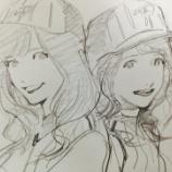 『【乃木坂46】エヴァの貞本義行『ポラリス学園』キレイとシェリーのイラストをtwitterで公開!!!』の画像