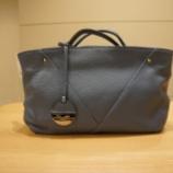 『AURORA PRESTIGE(オーロラプレステージ)シュリンクレザーハンドバッグ』の画像