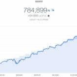 『【爆益!!】2021年2月4週目!THEO+docomoの資産運用状況は784,899円でした。』の画像