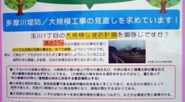 【台風19号】二子玉川の堤防反対派「堤防いらないと言った訳ではない」