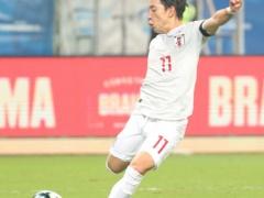 【 日本代表 vs ウルグアイ 】前半終了!三好のゴールで日本が先制するもPKをスアレスが決めて1-1!