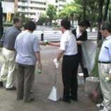『上戸田商店会有志による清掃活動』の画像