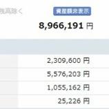『 【運用状況】2019年8月末の資産合計は896万円でした。』の画像